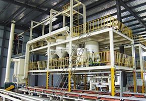 Gypsum decorative board production line