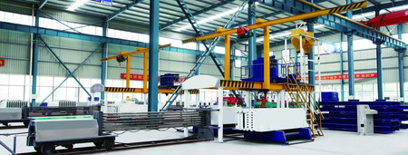 Gypsum wall board forming machine (four pieces machine)